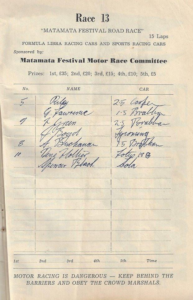 Name:  Matamata 1964 #33 Sat 23 May 1964 Festival Race 13 Libre and Sports K Guinness .jpg Views: 70 Size:  148.7 KB
