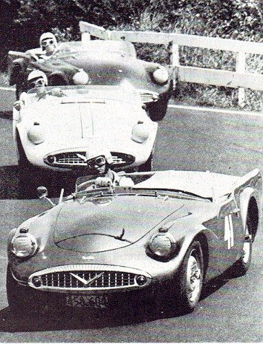 Name:  Motor racing Pukekohe 1964 Trevor Sheffield Daimler SP250 # 3. 25CCI21072015 (3) (382x500).jpg