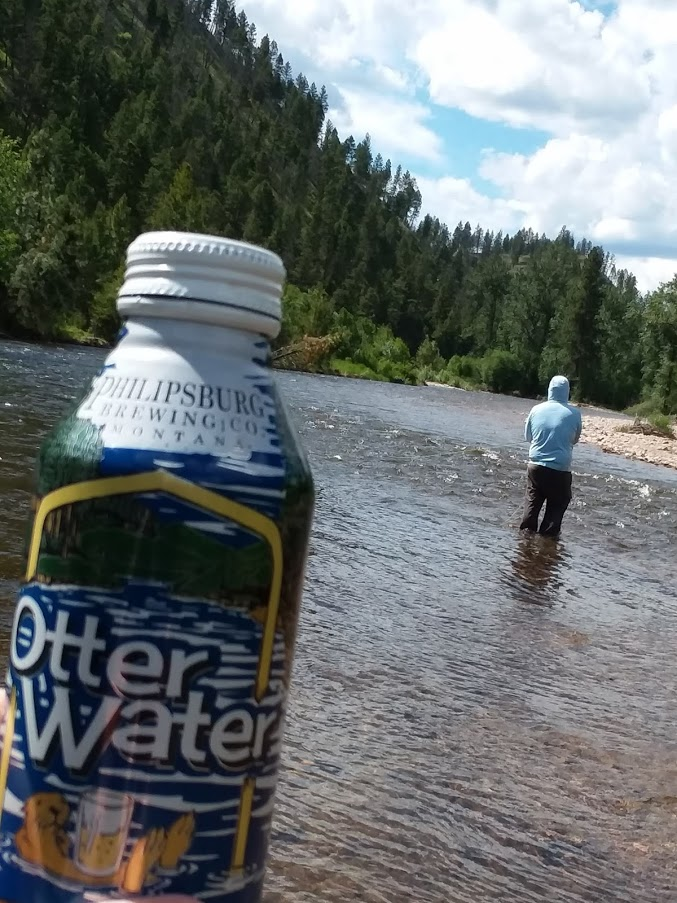Name:  Beer on the river at Rock Creek, Montana.jpg