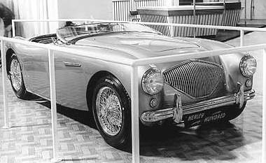 Name:  AH 100 #080 Healey 100 1952 wire wheels EC Motor Show P and C Quinn AH Historic Pictures .jpg