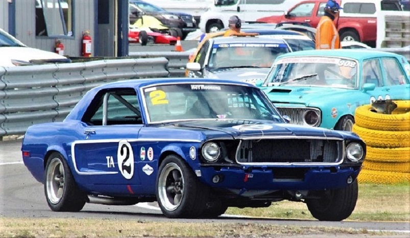 Name:  # 2 Mustang entering at Taupo.jpg