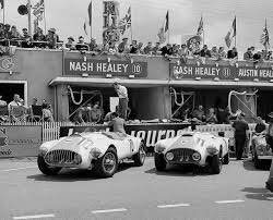Name:  AH 100 #196 Nash Healey race #10 and #11 1953 Le Mans race Chris Dimmock archives .jpg