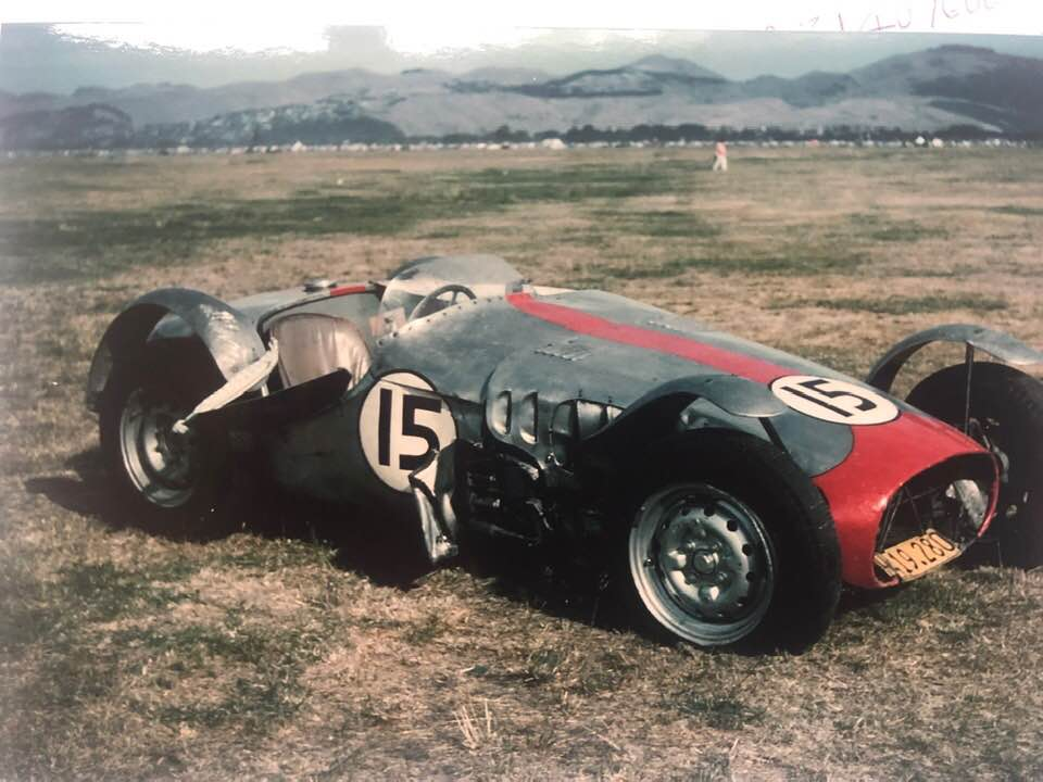 Name:  Motor racing Wigram #10 1962 Sports car race accident Forrest Cardon  Lycoming Art Mckee .jpg