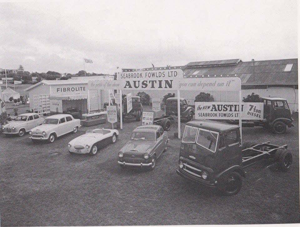 Name:  AH 100S #54 100S and Austins Sebrook Fowlds display 1955 ! .jpg Views: 151 Size:  87.2 KB