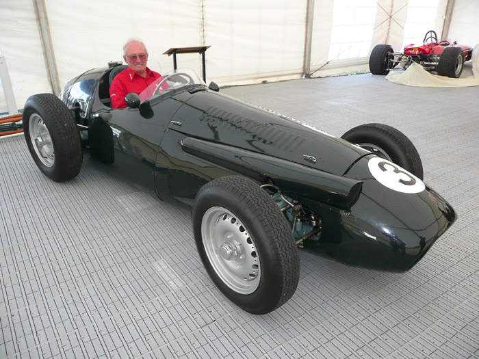 Name:  Chris Amon in his fomer 1954 Maserati 250F chassis 2509 - NZFMR Chris Amon Festival Jan 2010 - J.jpg