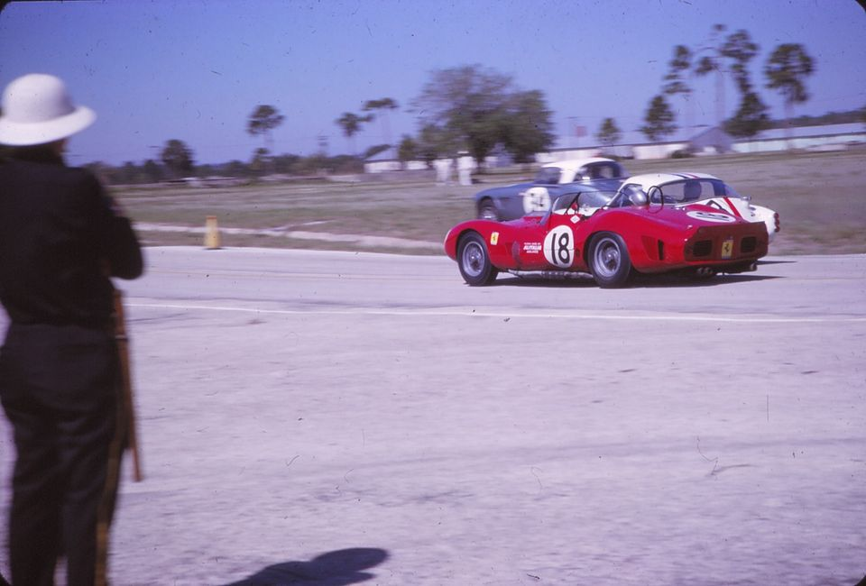 Name:  AH 3000 #363 Sebring 1964 Cars #33 and #34 . car #34 Ferrari and TR colour K Stelk archives .jpg