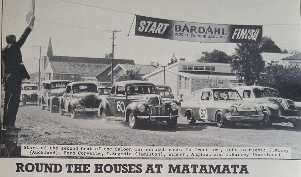 Name:  Motor Racing Matamata #60 1964 Ford V8 Anglia Holden front row Willys early 60's newspaper photo.jpg