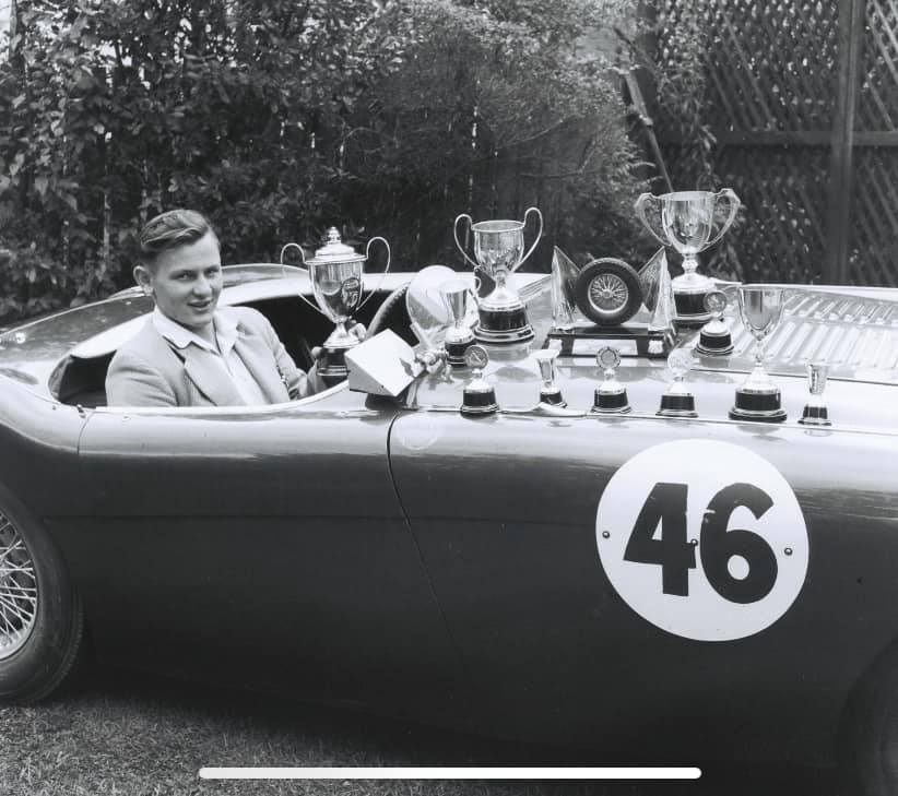 Name:  AH 100 #114 McLaren Healey Bruce and Trophies Bob Stenberg .jpg