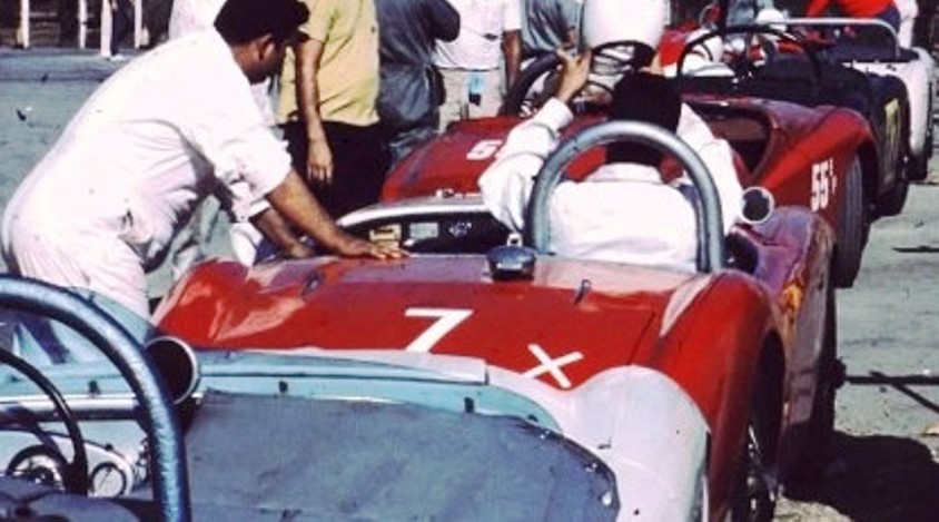 Name:  AH 100 #55 in line up 100, 100,TR3 unsure and 100 August 1962 Jerry Melton K Hyndman.jpg