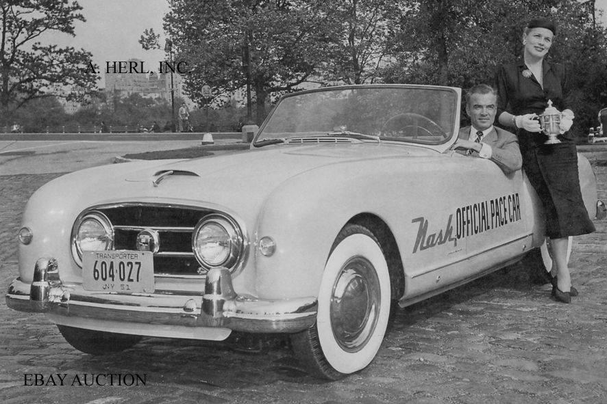 Name:  AH 100 #175 Nash Healey Pace Car Indy 1952 New York Reg .jpg Views: 207 Size:  91.7 KB