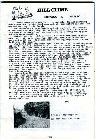Name:  NSCC #247 1964 ! Birdwood Rd last  Hill Climb new venue Wharepapa Bob Homewood.jpg Views: 82 Size:  67.6 KB