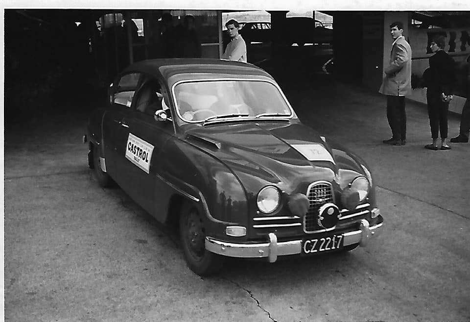 Name:  NSCC 1965 #24 Castrol Rally 1965 Auckland start Farmers Car Park. Mike Smith (finished 14th) Joh.jpg