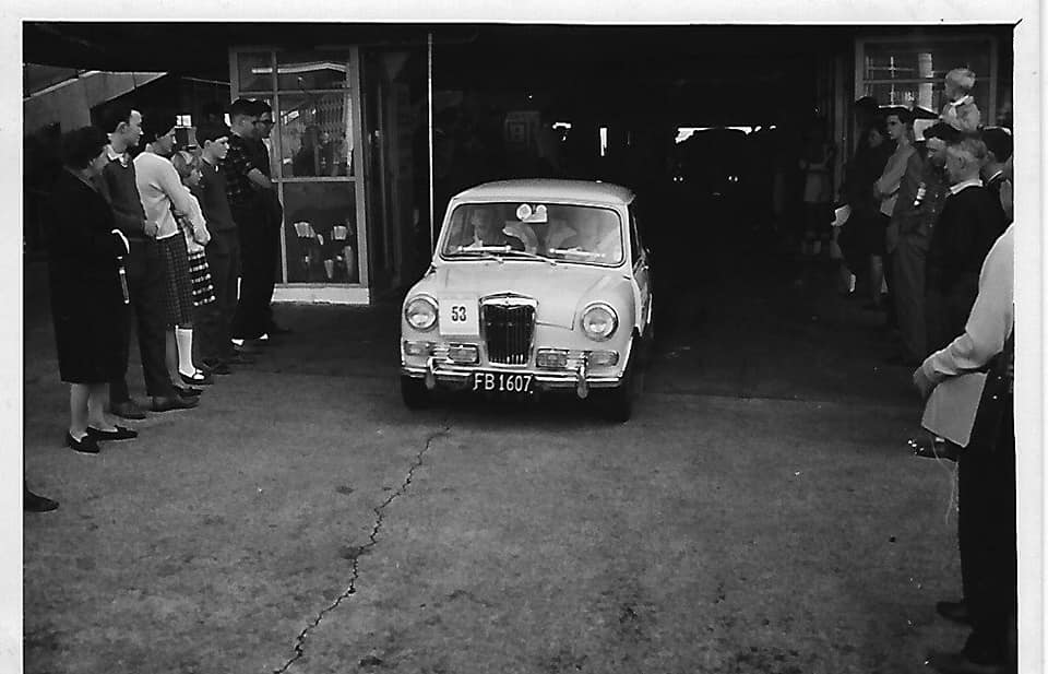 Name:  NSCC 1965 #29 Castrol Rally 1965 Auckland start Farmers Car Park. Gerry Smaller in his first tri.jpg