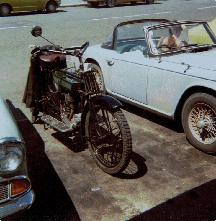 Name:  Vintage Motorcycles 1978-9 #5 Mc and my TR4A CCI12012016 (732x750).jpg Views: 1966 Size:  166.6 KB