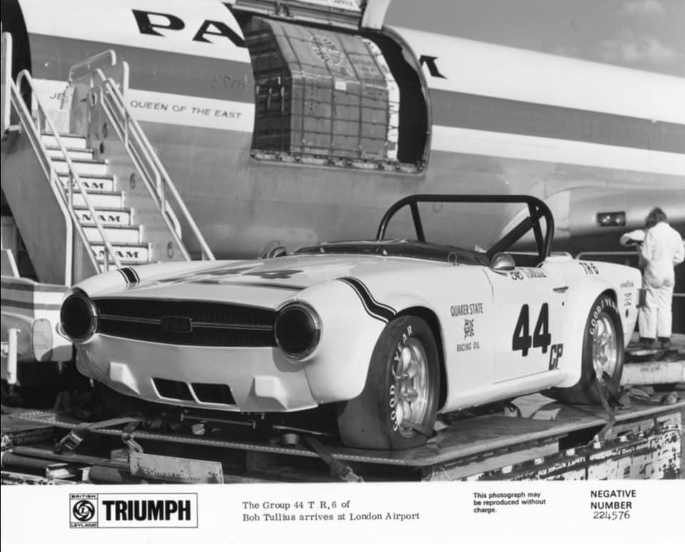 Name:  Models #044 Triumph Photo Bob Tullius GP 44 TR6 unloading Jurg Schopper archives .jpg Views: 71 Size:  61.8 KB