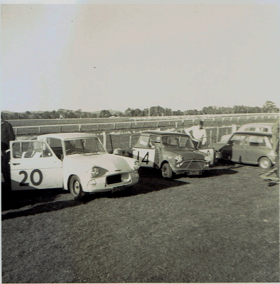 Name:  Pukekohe May 1966 #17  Anglia M Walker and Mini v2 CCI13102015 (2).jpg