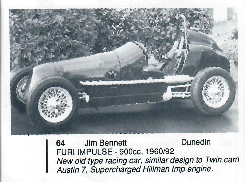 Name:  Jim Bennett Furi Cars #81 Furi 9 1993 entry in programme Jim Bennett archives .jpg