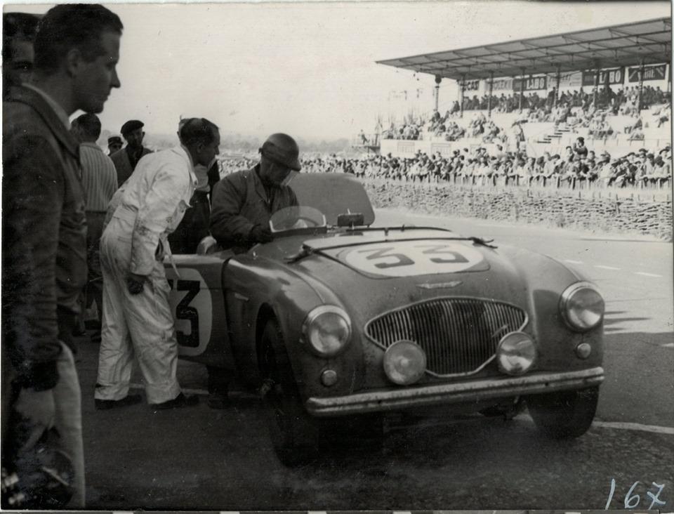 Name:  AH 100 #171 NOJ391 works car Le Mans 1953 K Stelk archives .jpg Views: 283 Size:  158.4 KB