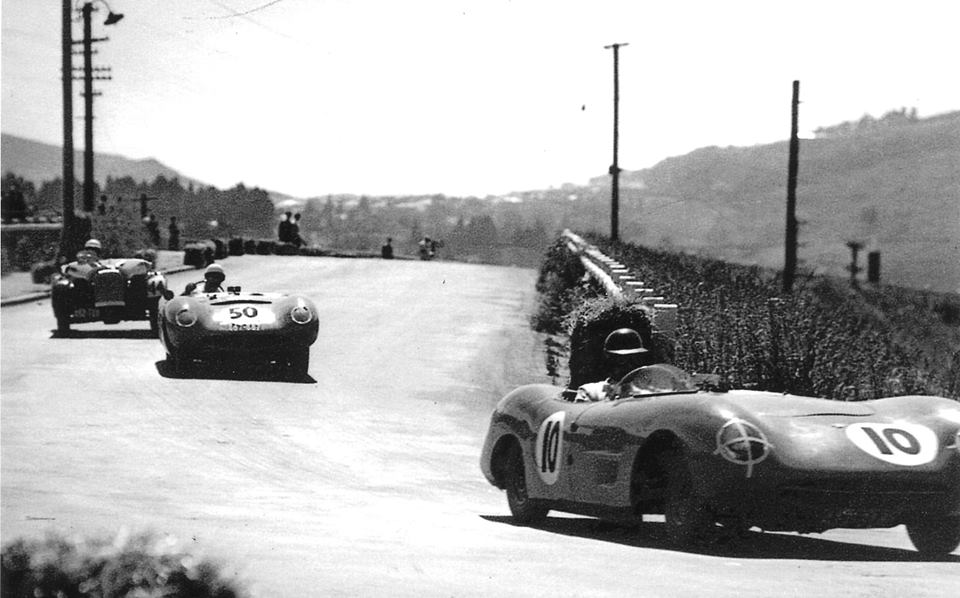 Name:  Dunedin 1958 #4 Sports Car Races corner off the bridge Jim Bennett .jpg