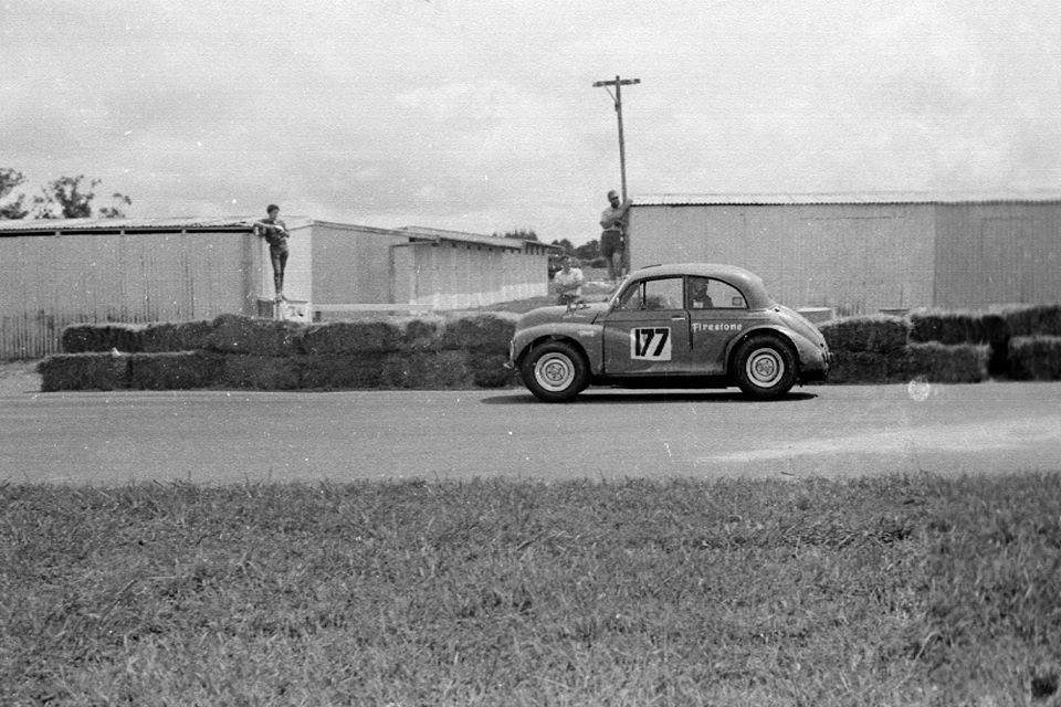 Name:  Pukekohe 1966 #21 Feb 66 Garth Souness Morrari stack pipes stables cnr Rex Rattenbury .jpg Views: 253 Size:  110.4 KB