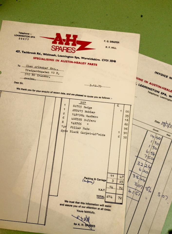 Name:  AH Spares #12 Fred Draper AH Spares invoices 1973 Clas Arleskar archives .jpg Views: 105 Size:  75.0 KB