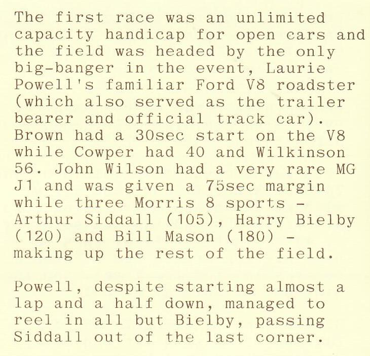 Name:  NSCC 1949 #414 Seagrove Report 1949 Race Report re-Laurie Powell V8 G Woods .jpg Views: 30 Size:  79.2 KB