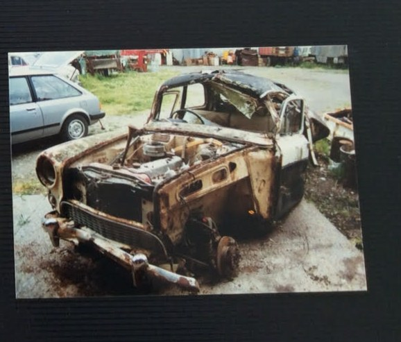 Name:  AH 3000 #256 Ruddspeed - 4000 Montage #4 the A95 wreck Hicks purchase 1985 Myles Hicks.jpg Views: 76 Size:  88.4 KB