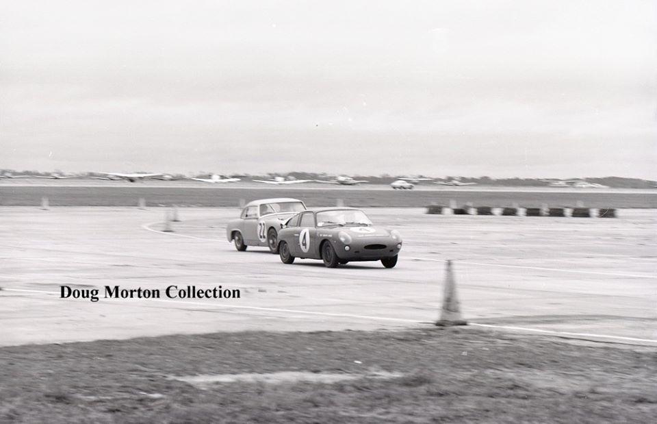 Name:  AH Sprite #71 Sebring 1962 3 shots of the #22 chasing the #4 Abarth Tower turn 1 Doug Morton.jpg Views: 42 Size:  59.1 KB