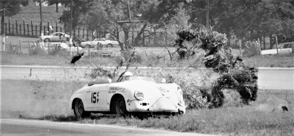 Name:  3 ONCOMING PORSCHE GETS HIT, DESTROYS MARKER GVR JUNE 1967.jpg