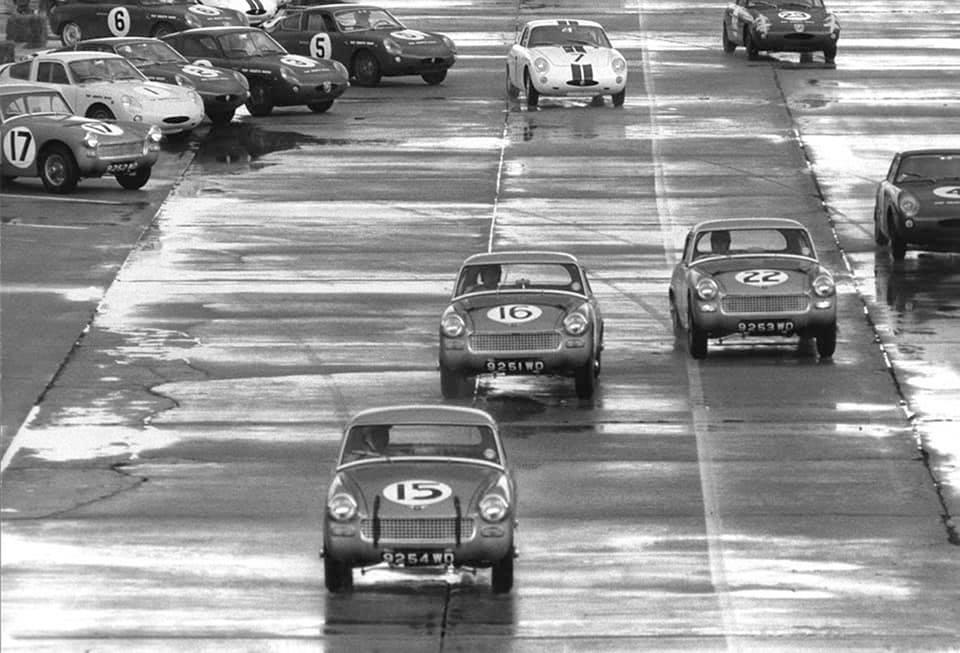 Name:  AH Sprite #66 Sebring 1962 Moss Ireland Rodriguez Le Mans away J Whitehouse Bird archives .jpg Views: 154 Size:  85.3 KB