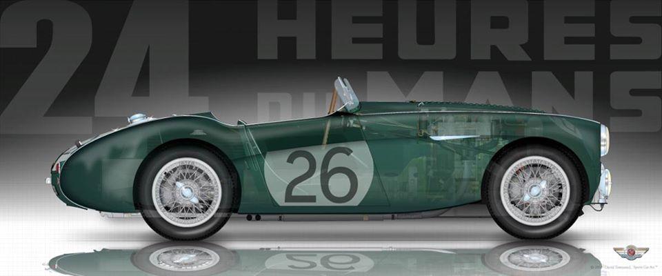 Name:  AH 100S #163 NOJ393 works car Silhouette image Le Mans 1955 Green Car 26 Macklin  Rick Neville a.jpg Views: 194 Size:  44.9 KB