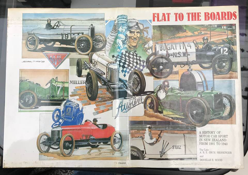 Name:  Motoring Books #194 Book cover for 'Flat to the boards' from way back in '85. Michael Nidd .jpg Views: 72 Size:  95.0 KB