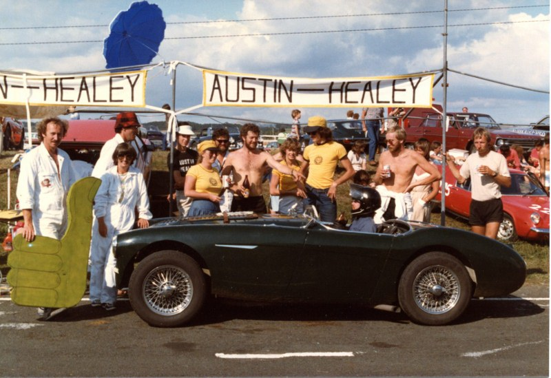 Name:  Team Healey Tay in car and the crew AHCC Le mans Feb 83 img710 (2) (800x549).jpg Views: 3246 Size:  144.3 KB