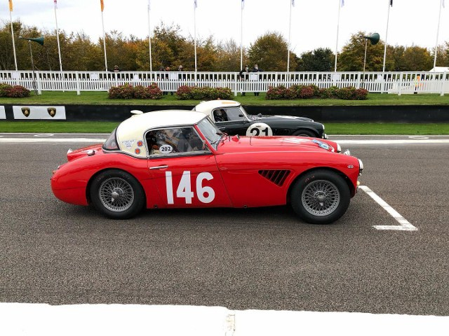 Name:  AH 3000 #366 XJB 876 2020 Goodwood  Rich  Jon. 12th overall first Healey home start Paul Woolmer.jpg