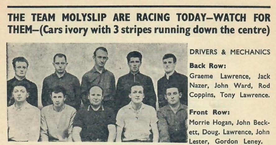 Name:  Motor Racing Pukekohe #121 1965 Team Molyslip Drivers and Mechanics Graham Woods .jpg Views: 62 Size:  143.2 KB