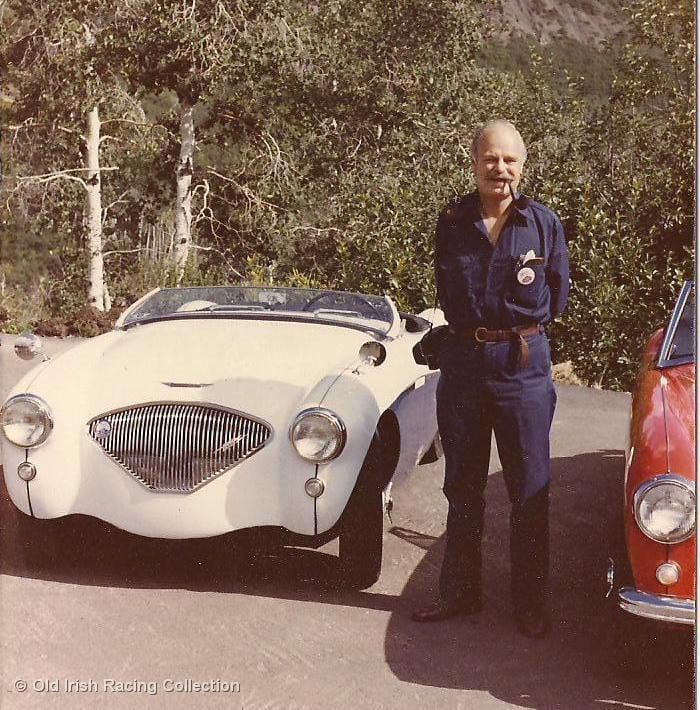 Name:  Healey trip 1982 #275 Jerry Liudahl 100 Geoff with my car at Snowmass J Liudahl .jpg Views: 18 Size:  113.5 KB