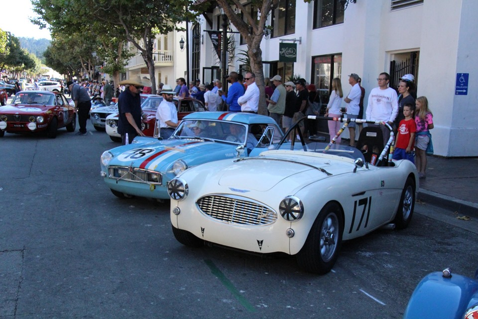 Name:  Monterey 2019 #31 MG and AH in town pre-race Terry Cowan .jpg Views: 301 Size:  181.4 KB