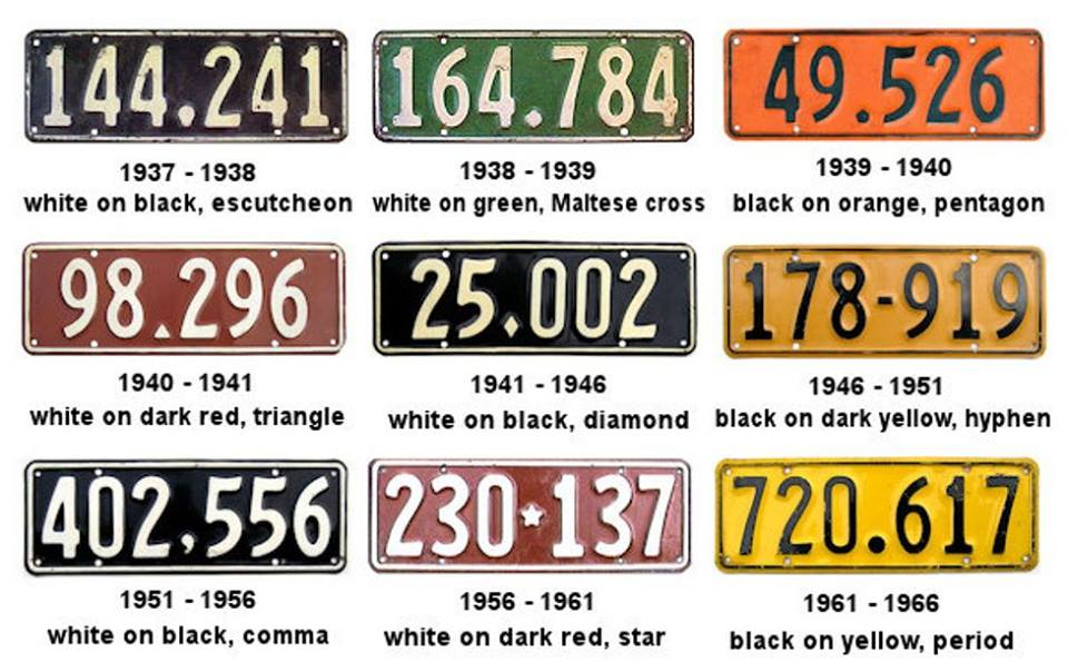 Name:  NZ Number plates #3, 1937 - 1966 - 64-66 permanent plates intro..jpg