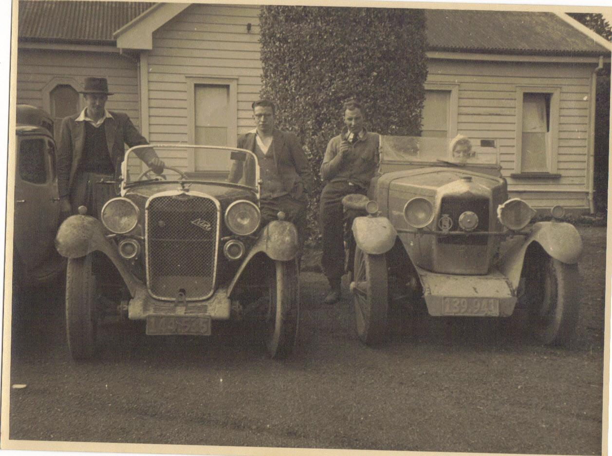 Name:  Ed and Una's Riley with others Helensville Mud Trial 1949 . 17-05-2015 02;03;24PM.jpg