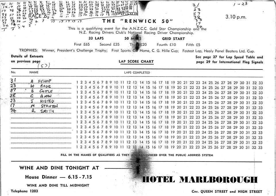 Name:  Motor Racing Renwick #9 1962 Renwick 50 lap chart John Manhire.jpg Views: 183 Size:  136.9 KB
