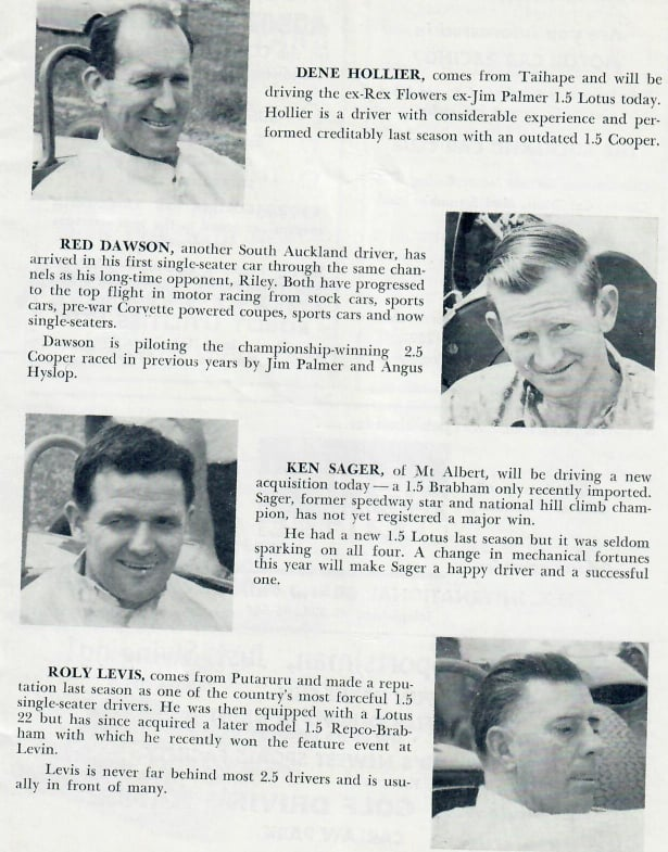Name:  Pukekohe 1964 #29 Driver Profiles 1964 GP meeting ! Graham Woods.jpg