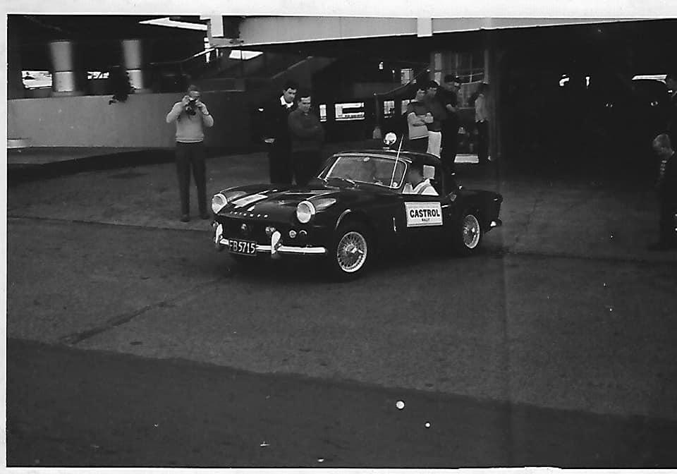Name:  NSCC 1965 #28 Castrol Rally 1965 Auckland start Farmers Car Park. Spitfire John McNicoll (68th) .jpg Views: 260 Size:  45.6 KB