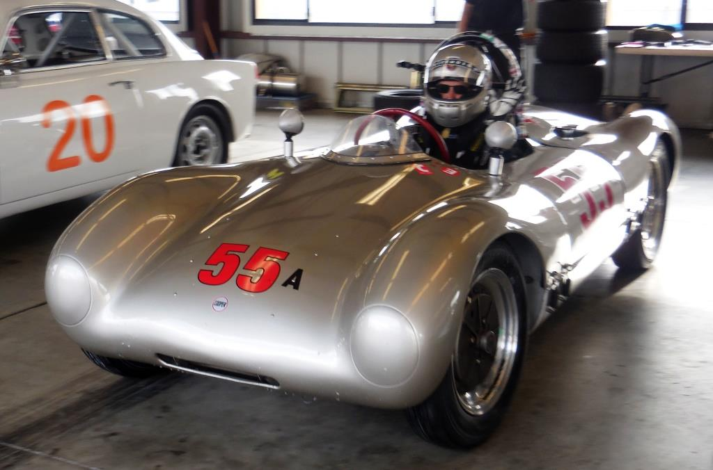 Name:  Cameron Healy gives a wave as he heads out in his 1953 Cooper Porsche..JPG Views: 56 Size:  138.2 KB