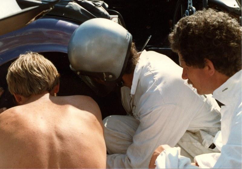 Name:  Wheel change Phil Frank  helmet and RogerAHCC Le mans Feb 83 img712 (2) (800x559).jpg Views: 3100 Size:  109.4 KB