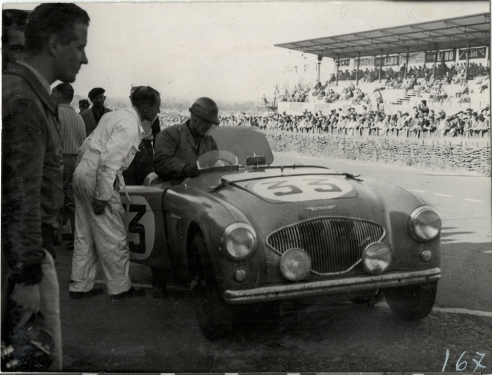 Name:  AH 100 #171 NOJ391 works car Le Mans 1953 K Stelk archives .jpg