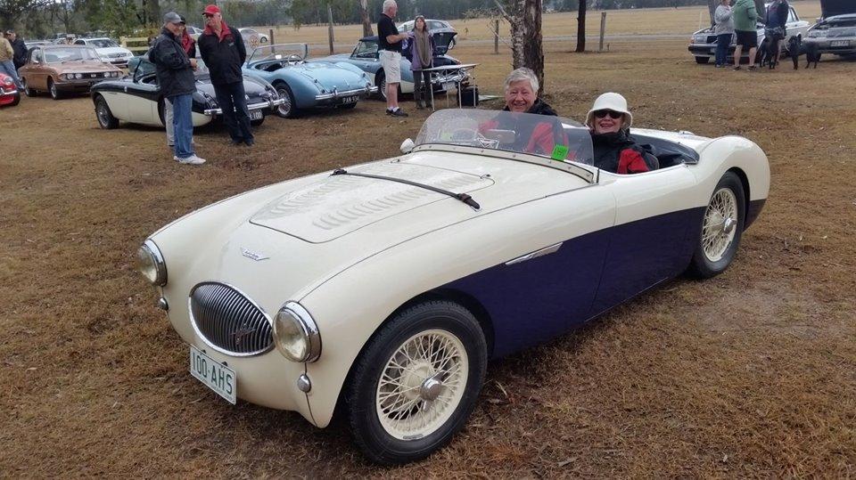 Name:  AH 100S #34 AHS3905 Joe Jarick's 100S Joe and Lyn in car August 2018 AHOCQ archives.jpg Views: 777 Size:  131.9 KB