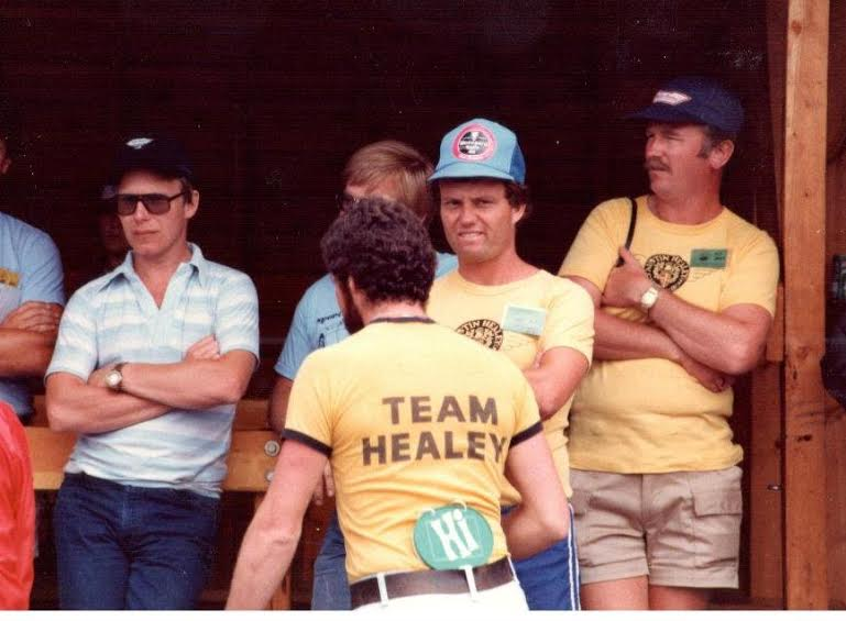 Name:  AH events Ross Mark and Frank [ back to to camera ] Team Healey Snowmass '82 (2).jpg Views: 520 Size:  51.9 KB