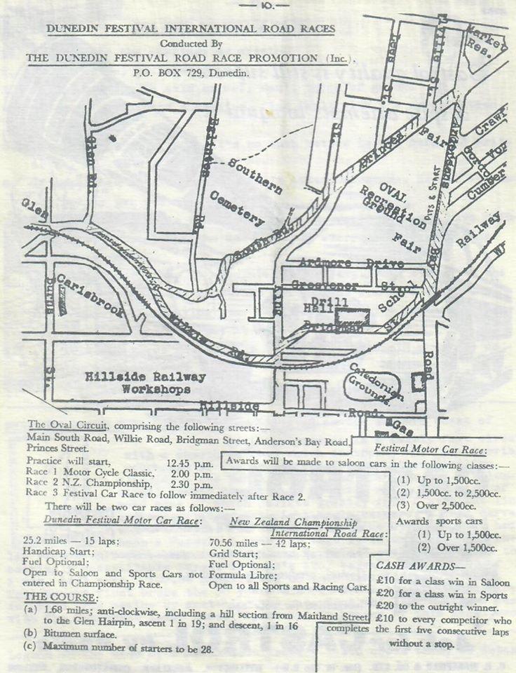Name:  Dunedin Festival 1959 #111 OSCC Wheelspin newsletter 1959. The track Graham Woods .jpg Views: 92 Size:  144.9 KB