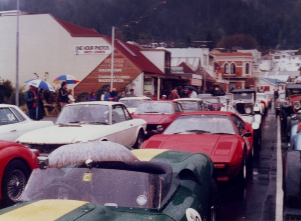 Name:  Motor Racing South Island #163 Queenstown Sprints 1986 grid in the rain Annie Swain archives .jpg