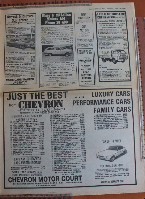 Name:  Motoring Books #245 Dunedin Weekly 1 Feb 84 car ads 2 2019_10_16_1075 (469x640).jpg